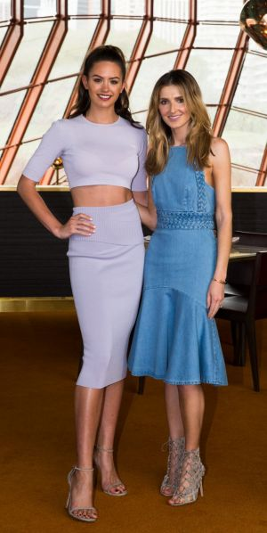 Jesinta Campbell (left) with Kate Waterhouse.