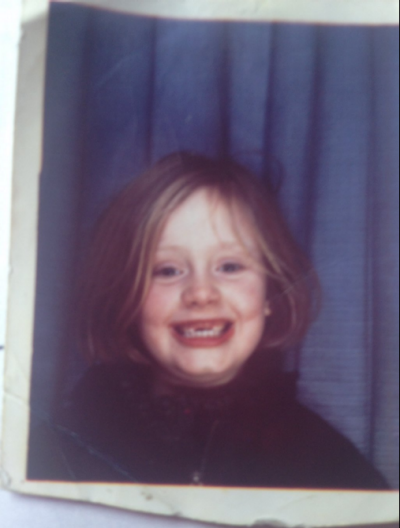 """Adele shared this picture to her Twitter account with the caption, """"Throwing it way back with this! Thank you for all ..."""