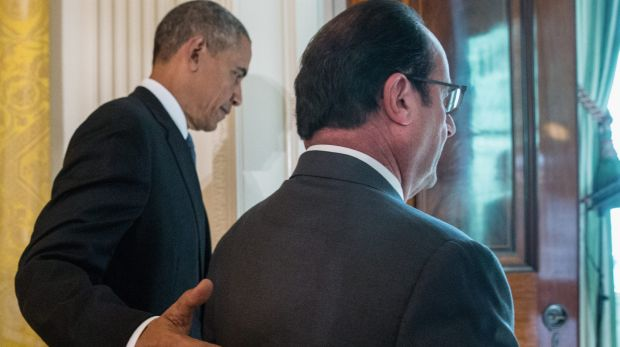 French President Francois Hollande's visit to Washington is part of a diplomatic offensive to get the international ...