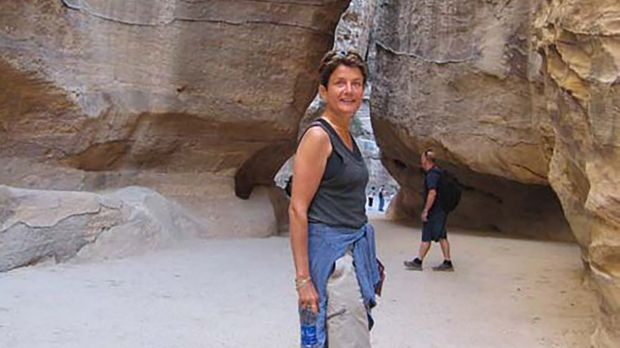 Sutton in relaxed mode on holidays at Petra archaeological site in Jordan.