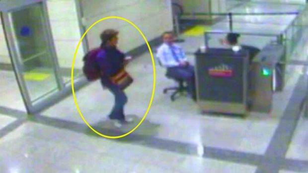 CCTV footage from Istanbul airport showing her movements just before she died.