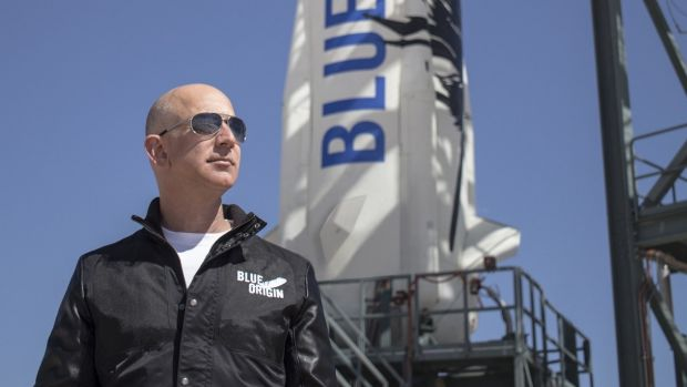 Like Willy Wonka in space: Amazon boss and space entrepreneur Jeff Bezos.
