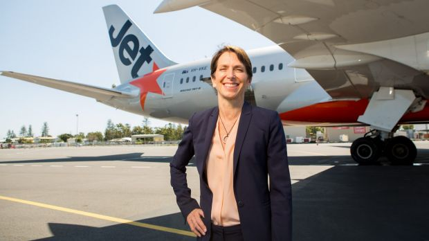 Jetstar chief executive Jayne Hrdlicka has stood down from the Woolworths board.