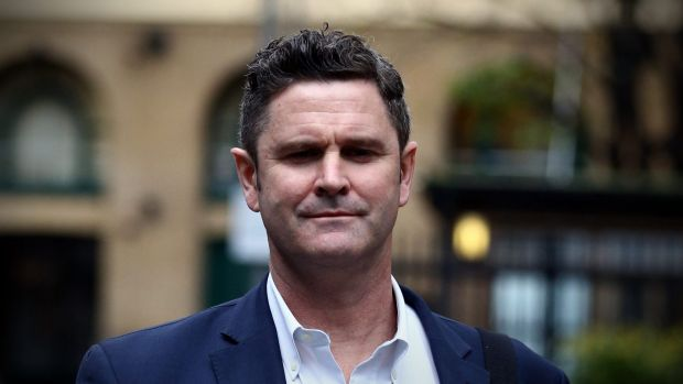 Former New Zealand cricketer Chris Cairns arrives at Southwark Crown Court on Tuesday.