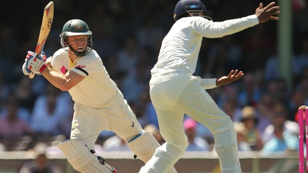 Chris Rogers in action at the Sydney Cricket Ground in January 2015.