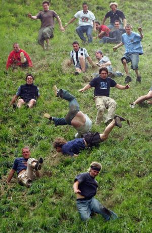 Question 12 – Cheese rolling in England, but are they competing for the Steinfield Cup?