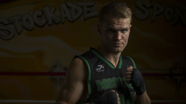 Canberra boxer Dave Toussaint ready for his fight on Saturday night.