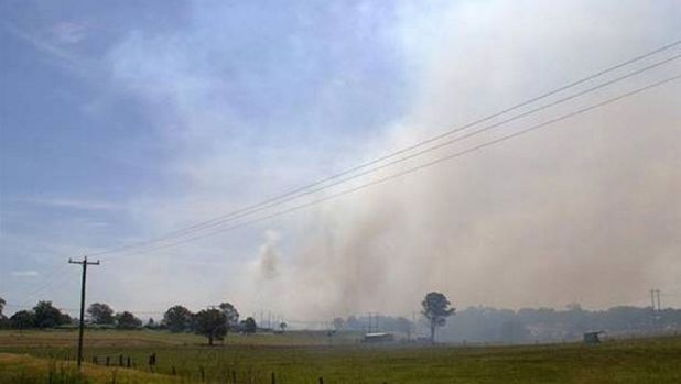 Numerous fires broke out around Cessnock on Thursday, including this one at Buchanan.