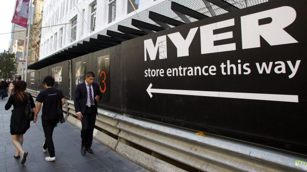 Myer's net profit after tax fell by 4 per cent to $59.7 million.