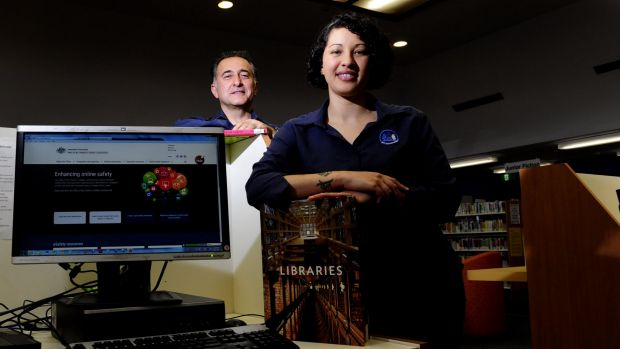 Librarians Dimitris Lioulios and Amanda Diedricks, at the Dickson Library, have both been trained to use the new program ...