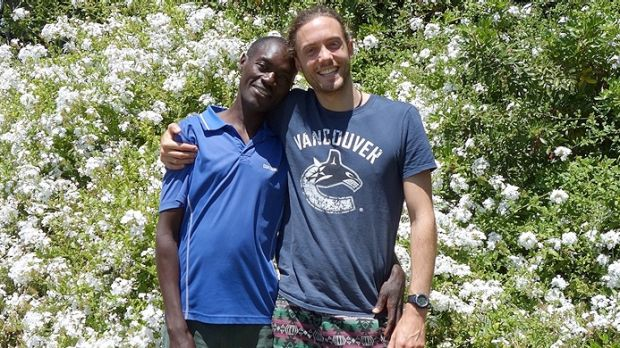Homeless Tanzanian Kin's luck began to take a turn for the better after he met Jonathon Strzina.