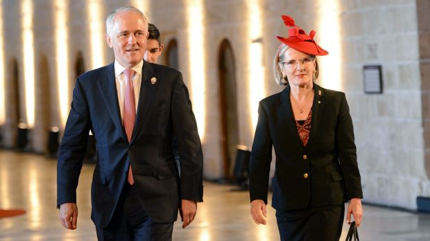 Prime Minister Malcolm Turnbull and his wife Lucy arrive at CHOGM in Malta over the weekend ahead of the Paris climate ...