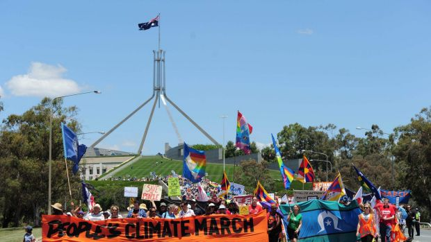 Canberra was one of more than 600 cities around the world to take part in the largest international weekend of climate ...