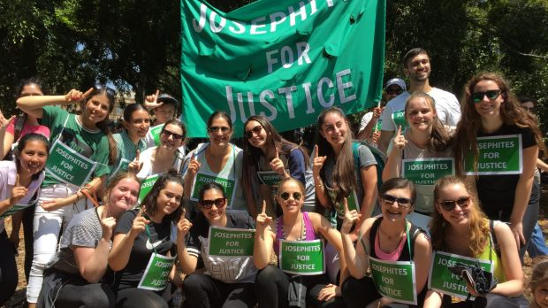 Religious group the Josephites at Sydney's climate change rally.