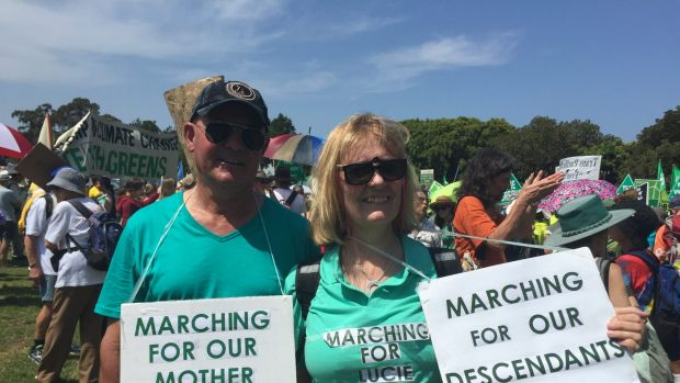 Sydney Climate Rally - Waldemar and Nora Laso - from south-west Sydney.