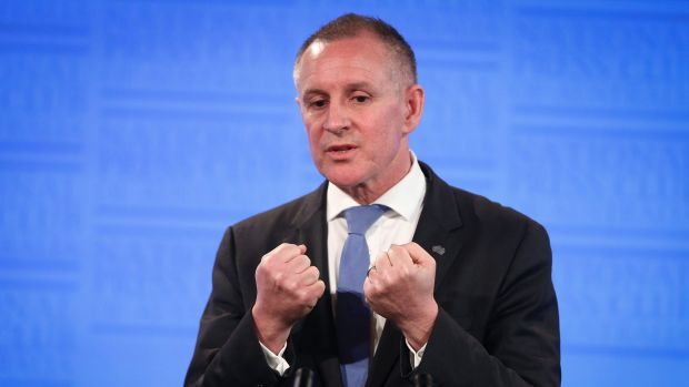 South Australia Premier Jay Weatherill addresses the National Press Club in 2015.