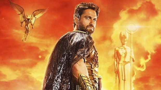 Gerard Butler in <i>Gods of Egypt</i>. Controversy blew up over the casting of the movie when the poster and trailer for ...