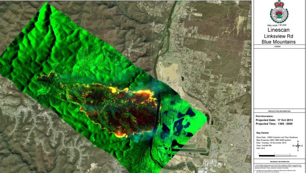 A screenshot of Phoenix in action. As well as being used in the field during fires, the simulator can be used to ...