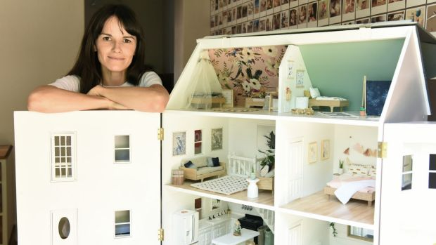A doll's house decked out by Linzi Macdonald.