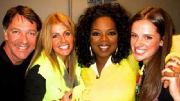 Oprah's friend Megan Castran, second from left, who is ambassador for One Girl, told Fairfax on Monday that she hopes ...