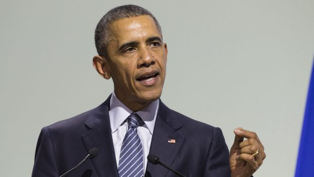 "Obama said the US embraces ""our responsibility to do something about"" climate change."