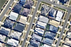 The Canberra Times. September 8, 2015. Photo: nearmap. Solar panels on houses in Crace around Digby Circuit, Carawa ...