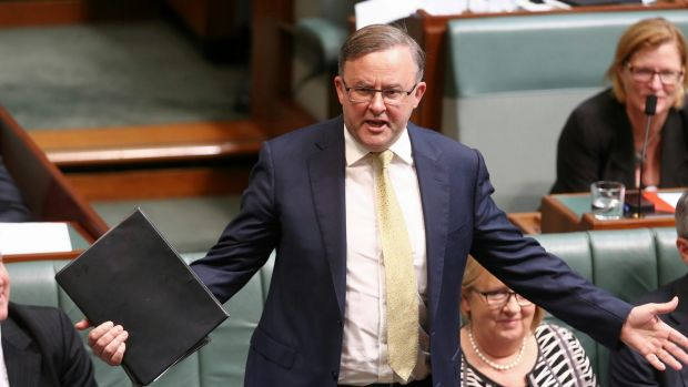 "Labor's infrastructure spokesman Anthony Albanese claims Mr Abbott now ""embarrassed"" by his record in the area."