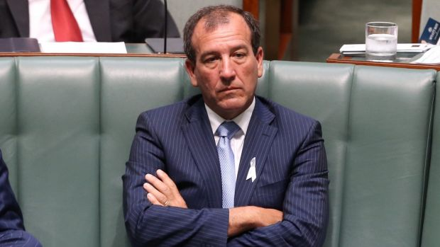 Mal Brough during question time on Tuesday.