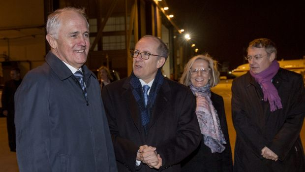 Australian Prime Minister Malcolm Turnbull arriving at the Paris climate summit last month
