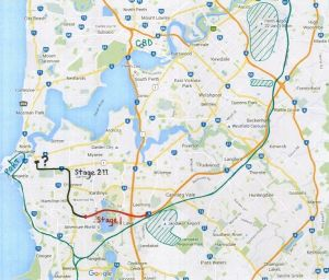 A potential revamped route for the Perth Freight Link.