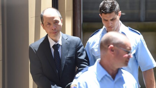 Robert Xie leaves court after his third trial resulted in a hung jury at King St Supreme Court