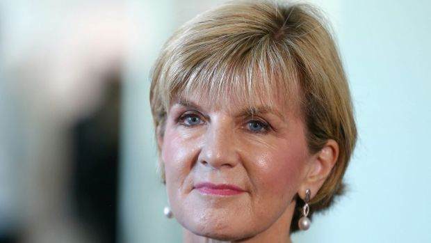 """Foreign Minister Julie Bishop: """"As long as nuclear weapons exist, many countries, including Australia, will continue to ..."""