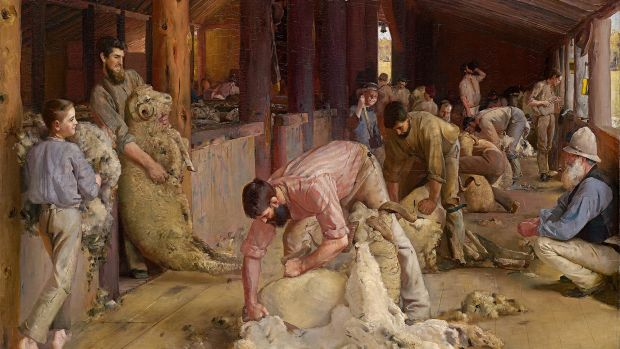 "In 1890, The Age described Tom Roberts' Shearing the rams as ""the most important work of a distinctly Australian character""."
