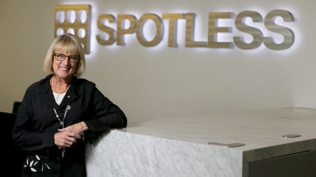 Spotless chair (and former Qantas chair) Margaret Jackson. The company's profit warning  came as a shock to investors.