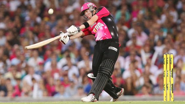 Steve Smith of the Sixers bats during the Big Bash League match between the Sydney Sixers and the Hobart Hurricanes at SCG.