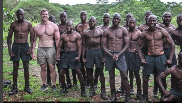 Powerful: David Pocock with the Malilangwe scouts.