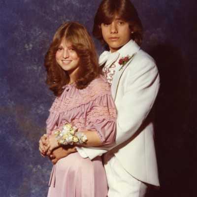 "John Stamos shared this throwback picture to his Instagram with the caption, ""#TBT #prom #hair"". Says it all, really."