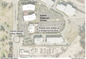 Aerial map of San Bernardino shooting
