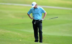 Bad day at the office: American Brandt Snedeker fired a first round 84.