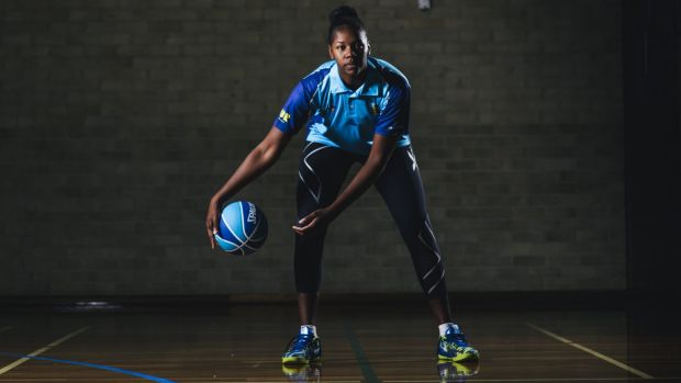 Canberra Capitals recruit  DeNesha Stallworth.