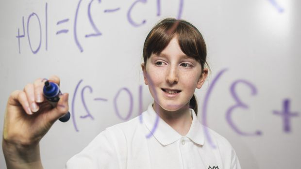 Canberra primary school student, Claire Jones, won the UNSW medal for mathematics in 2015.