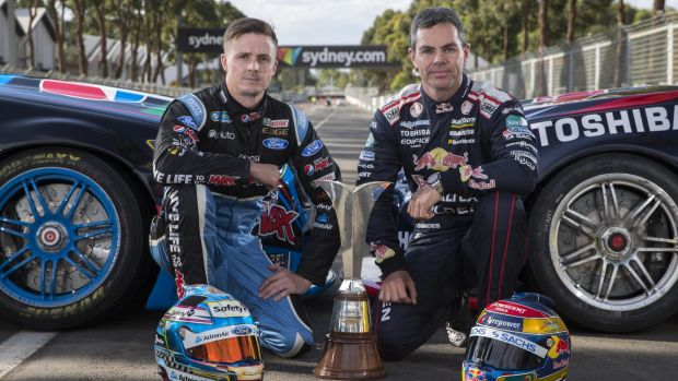 Mark Winterbottom (left) will miss the Bathurst 12 Hour next month but Craig Lowndes will take part.