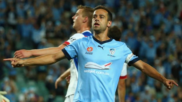 Up to it: Alex Brosque says Sydney FC are ready to compete in two competitions.