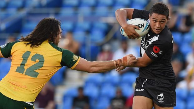 Hot property: Panthers recruit Te Maire Martin was invited to train with the Kiwis before he had even played an NRL match.