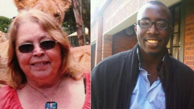 Romance scam victim Jette Jacobs and the man suspected of being responsible for her death, Jesse Orowo Omokoh.