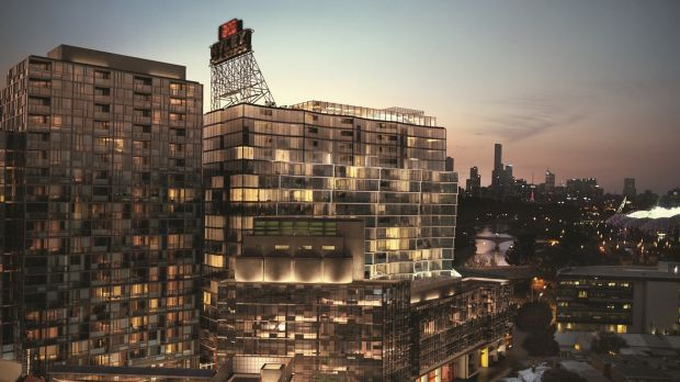 Caydon's plan for an apartment tower would replace the Richmond silos. The dormant Nylex clock, which sits atop the ...
