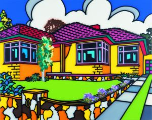 The quintessential Howard Arkley house is the triple-fronted. Its glorious sunrise colours and crisp morning skies, ...