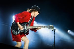 Angus Young is the sole original member left in AC/DC.