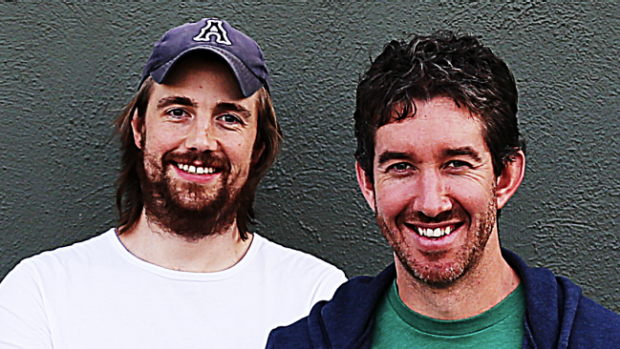 Atlassian co-founders Mike Cannon-Brookes and Scott Farquhar.