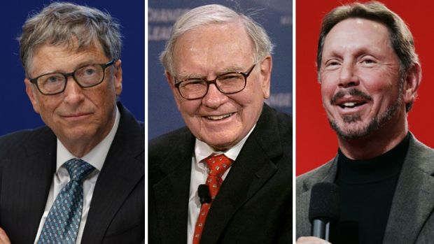 Bill Gates, Warren Buffett and Larry Ellison are among the 62 people who own the same as half the world.